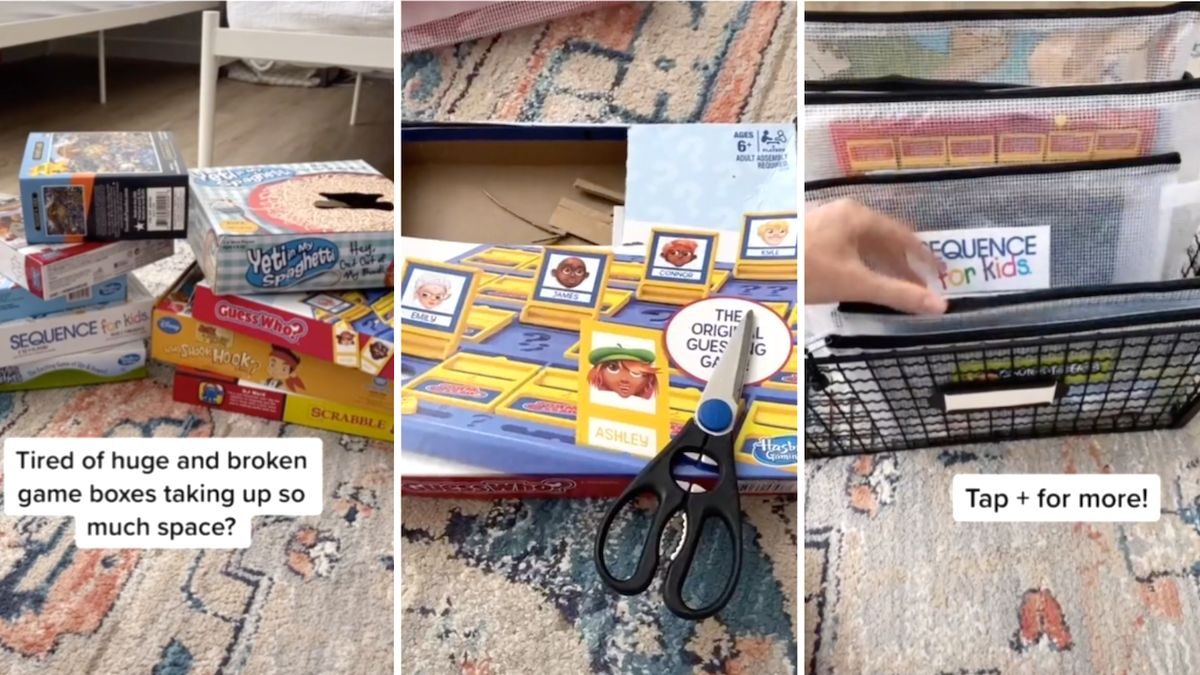 Mom cuts up game board boxes for ultimate storage hack: 'I ordered these 10 seconds after seeing this'