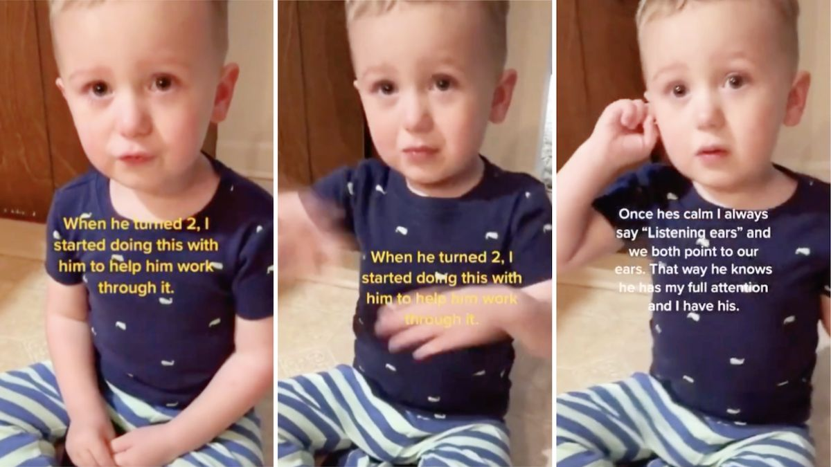 Mom magically calms 2-year-old's tantrum in a healthy, loving way: 'Big feelings in a little body can be hard for everyone'