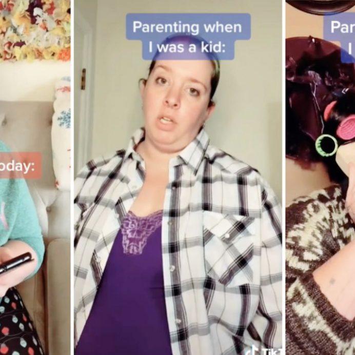 mom compares parenting today