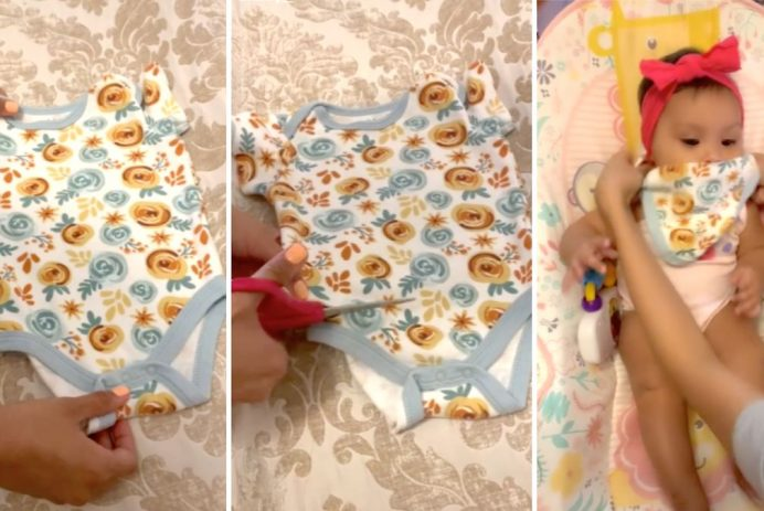 mom upcycles old onesie