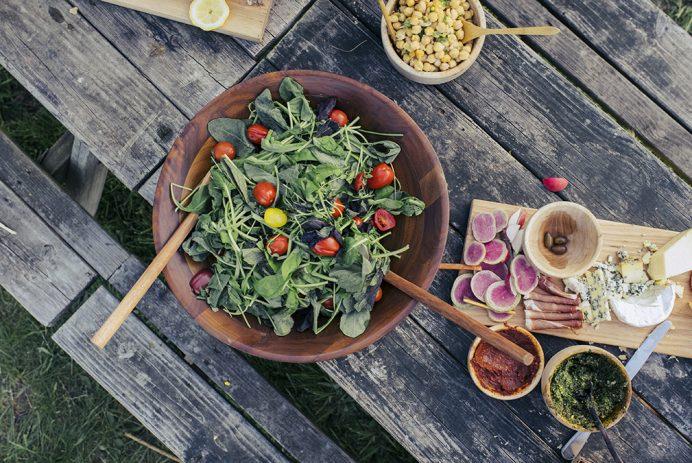 outdoor summer meal