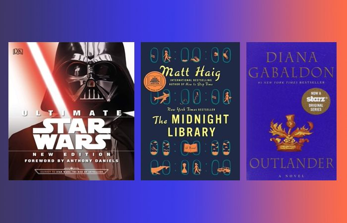 Prime Day book deals on fansty books including the Outlander series, The Midnight Library and the Ultimate Star Wars encyclopedia.
