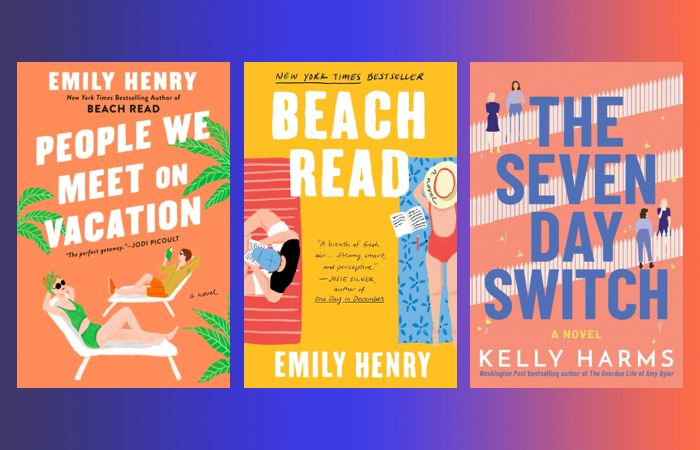 Prime Day book deals on rom-com books like Beach Ready by Emily Henry, The Seven Day Switch by Kelly Harms and People We Meet On Vacation by Emily Henry.