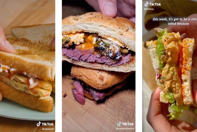delicious sandwiches on TikTok