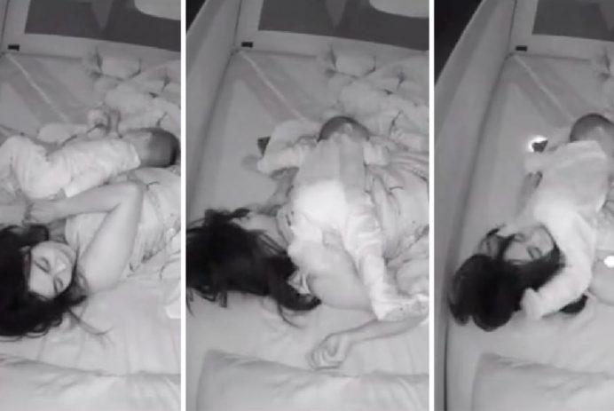 security camera baby sleeping