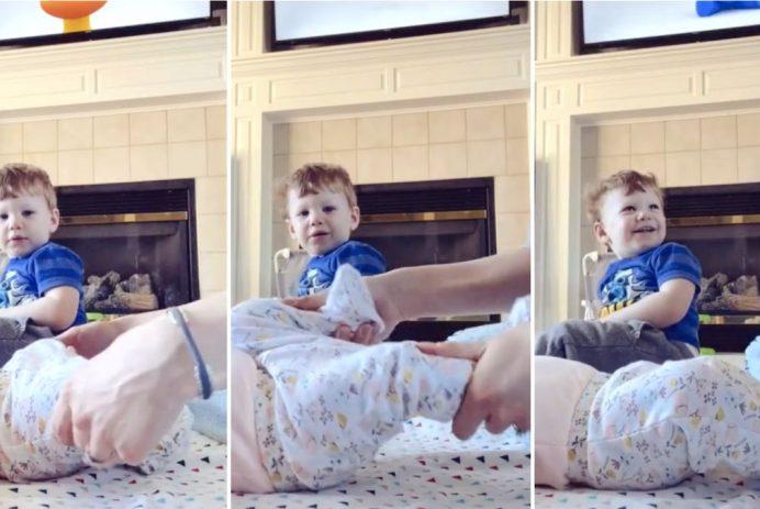 toddler fascinated gassy baby