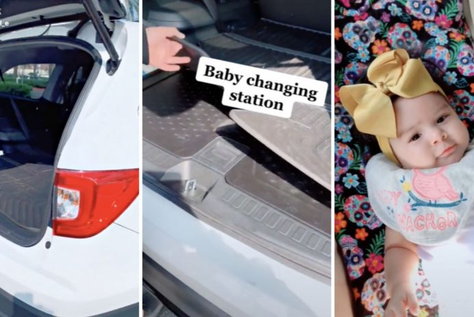 trunk diaper changing station