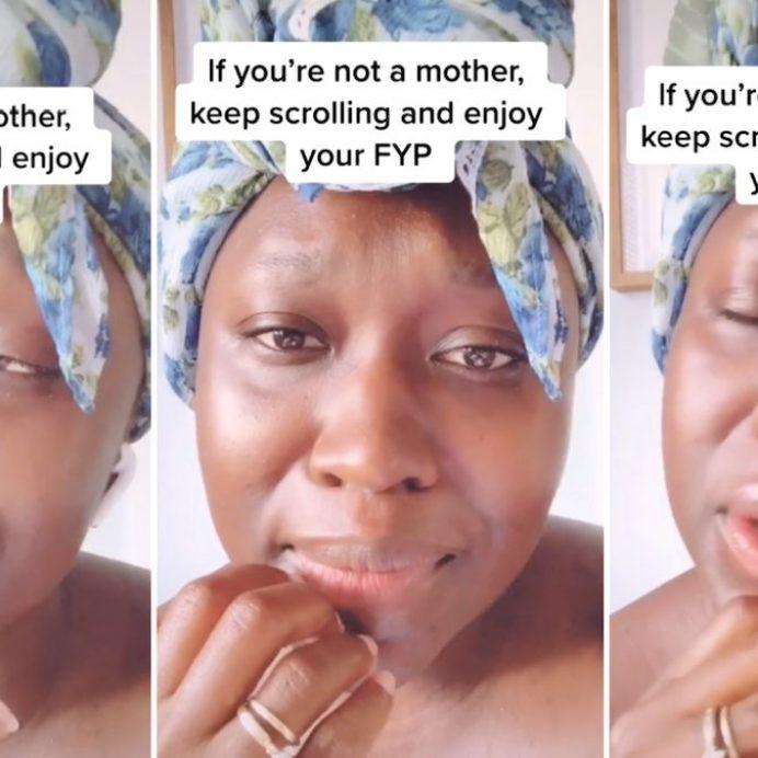 woman asks moms question