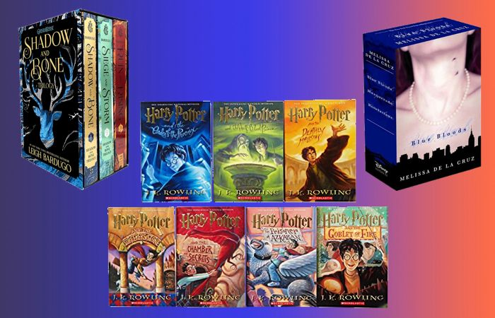 Prime Day deals on young adult books like the Harry Potter box set, Shadow and Bone box set and Blue Bloods box set.