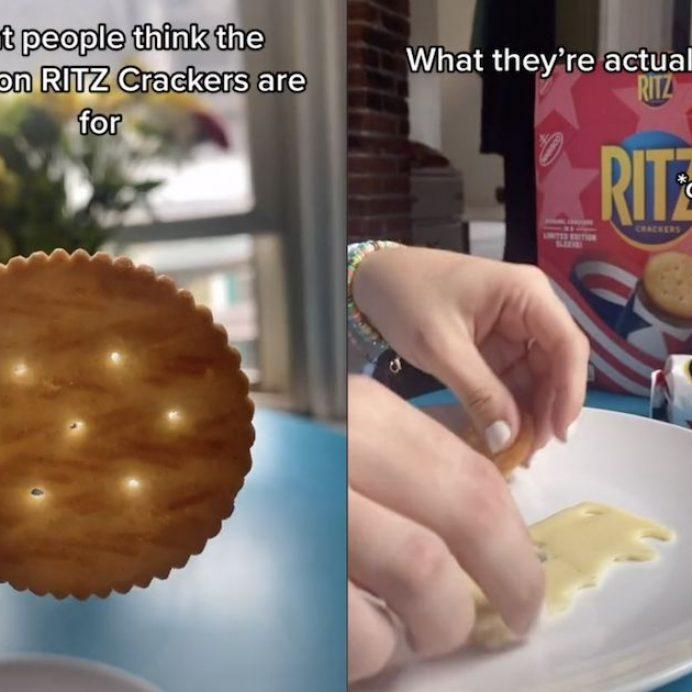 why do Ritz Crackers have ridges