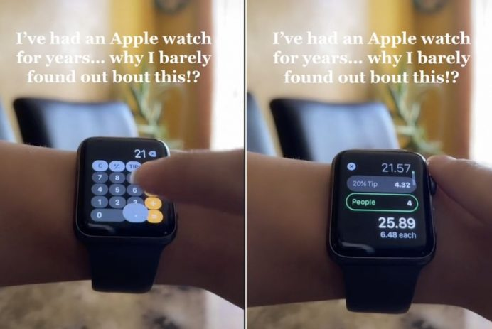 calculate tips on an Apple Watch