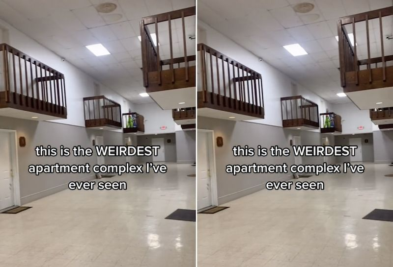 TikTok users creeped out by woman's 'terrifying' apartment building