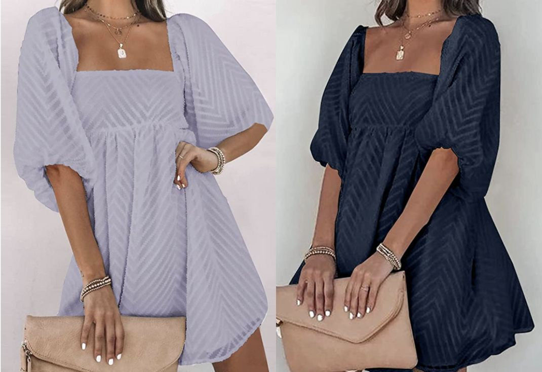 This expensive-looking swing dress is the only thing I want to wear this summer