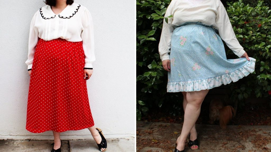 Find vintage and secondhand plus-size skirts, jeans, dresses, sweaters and more from plus-size Etsy shops like The Curvy Elle.