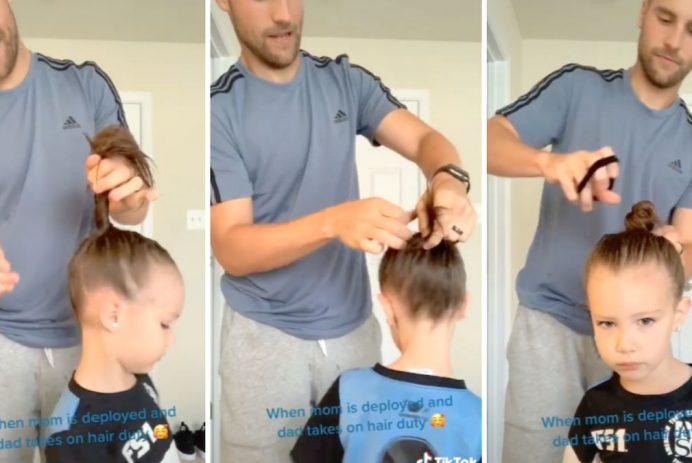dad hair duty mom deployed