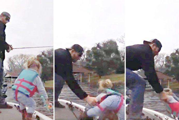 dad saves daughter lake