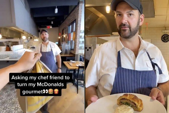 McDonald's beef Wellington