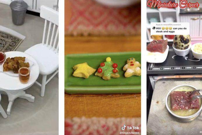 Credit: sulu_miniature_kitchen, tinykitchentm, miniaturecorner/TikTok