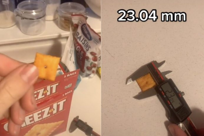 Cheez-Its squares