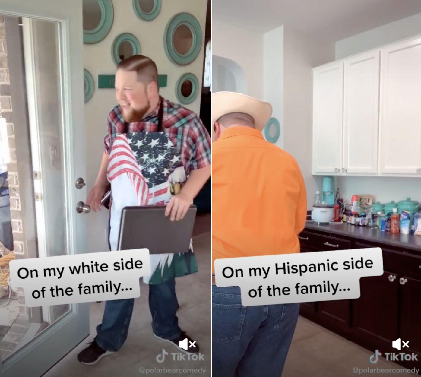 TikToker hilariously highlights the 'struggles' of growing up half white, half Hispanic
