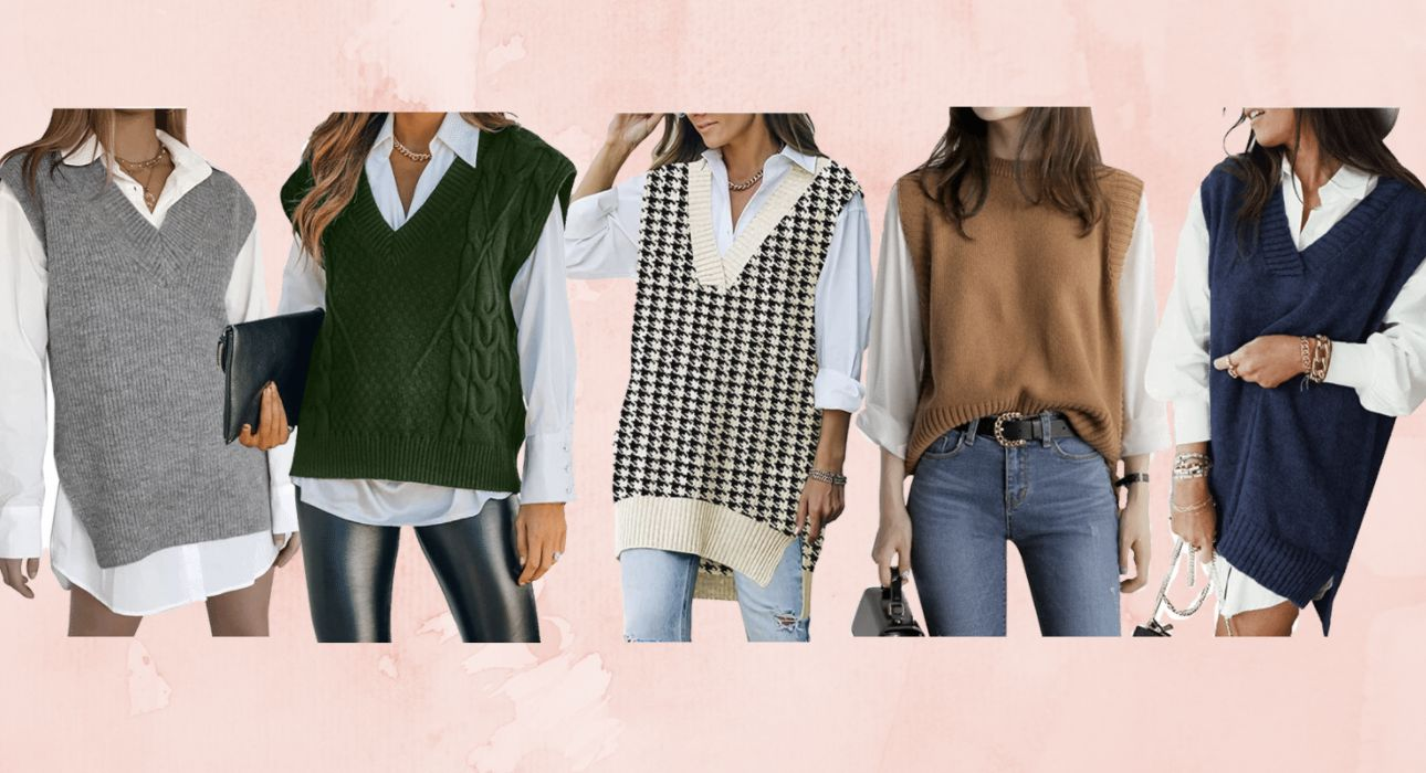 The sweater vest is the easiest style trend of the season — shop 5 cute options for under $30