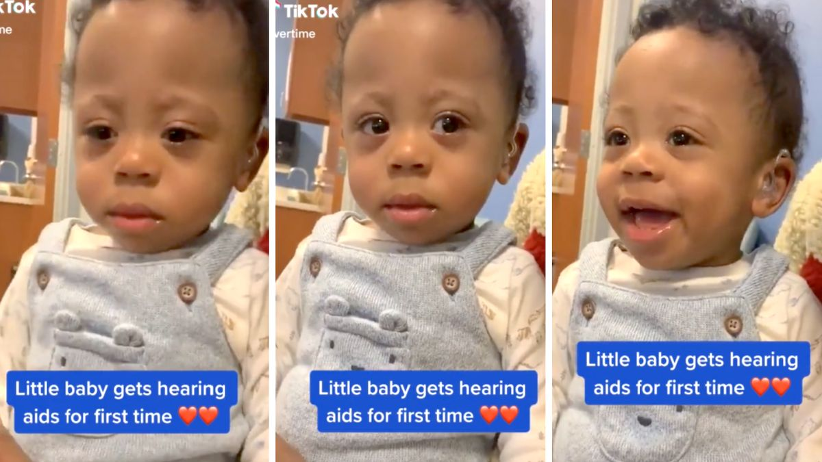 Baby's face lights up when he hears Mom's voice for the very first time: 'That smile says everything'