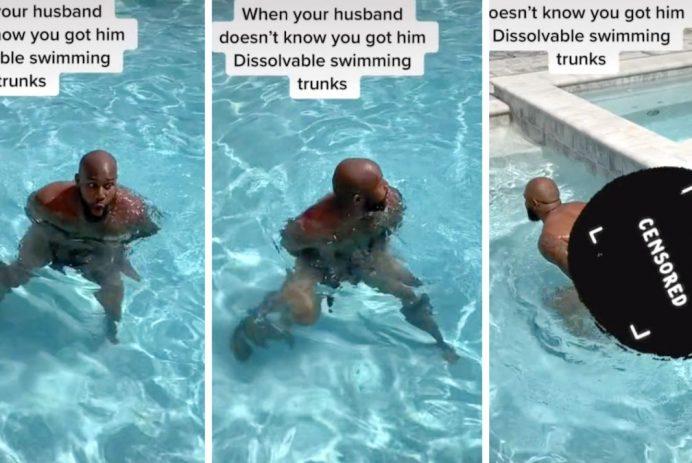 dissolvable swimming trunks