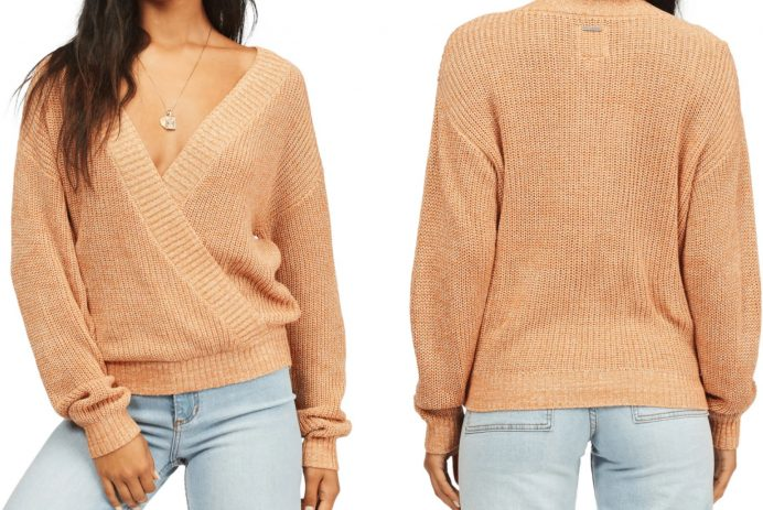 faux wrap sweater
