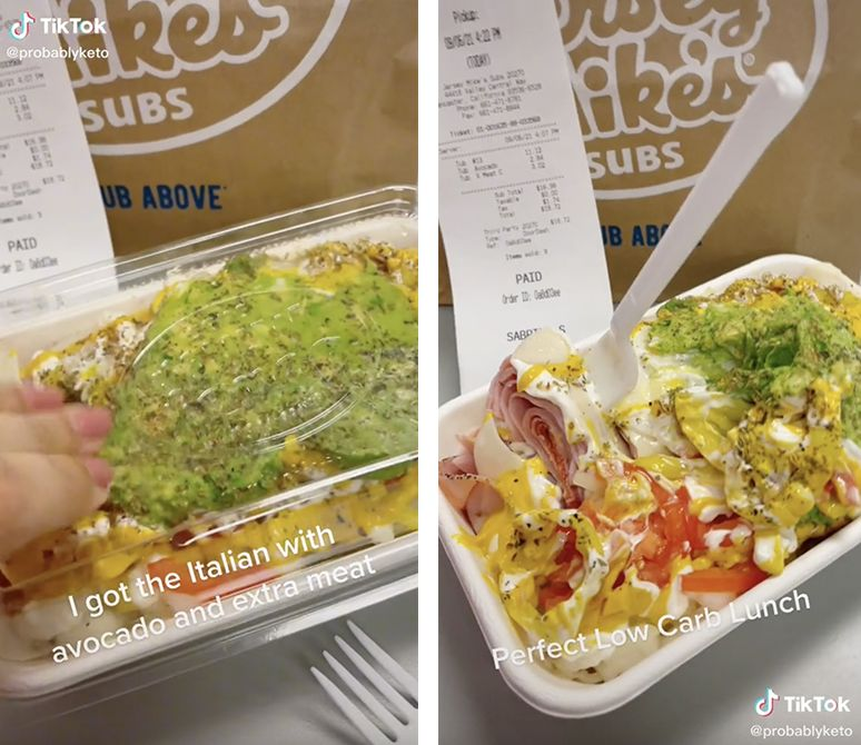 TikToker shares Jersey Mike's keto-friendly 'sub in a tub' hack: 'OMG I didn't know they had these!'