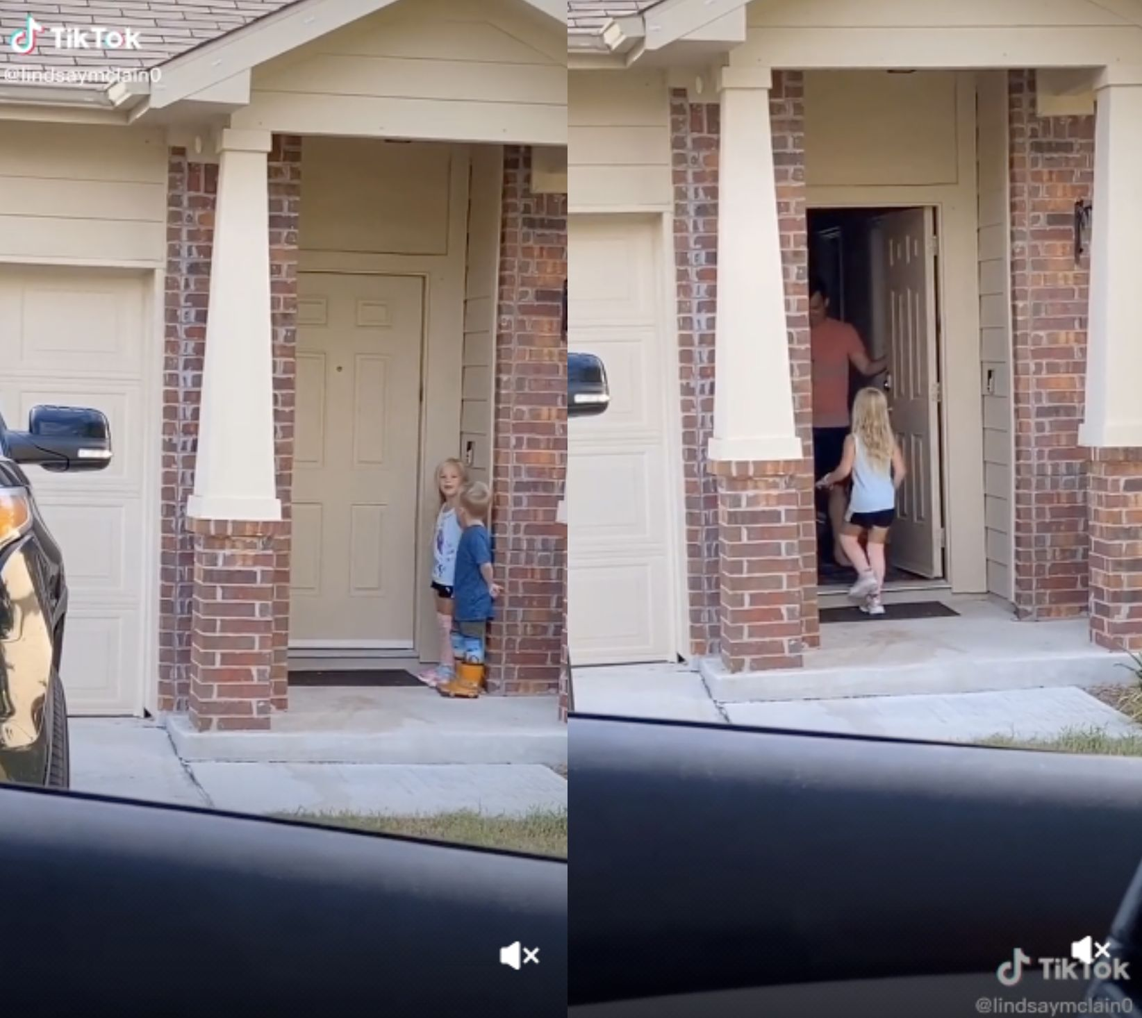 Mom surprises ex-husband with touching visit from kids