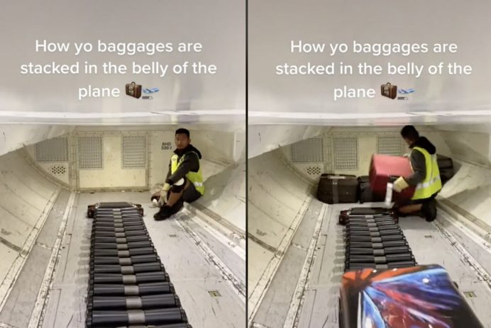 luggage get on a plane